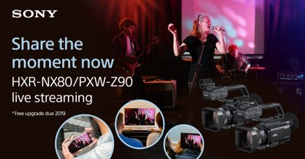 Sony HXR-NX80 and PXW-Z90, Palm-sized 4K HDR Camcorders, for Content Creators: Firmware Upgrade (06/17/2019) Offers Simple Live Streaming That Provides High Quality Live Streaming to Major Video Sharing Websites & Social Media Platforms