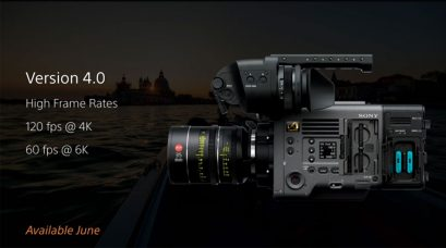 Sony VENICE (MPC-3610), Digital Motion Picture Camera, Firmware Update V4.00 (27 June 2019): New Functions and Supports