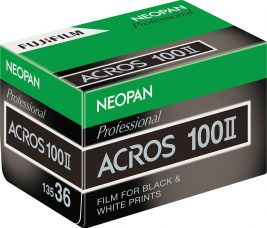 Fujifilm NEOPAN 100 ACROS II, 100 ISO Film for Black-and-white Photography