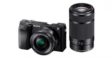 Sony a6100 with E PZ 16–50 mm F3.5–5.6 OSS lens and E 55–210 mm F4.5-6.3 OSS lens