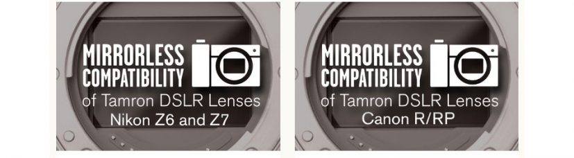 Compatibility of Certain Tamron Lenses with Mirrorless Full-frame System Cameras Nikon Z6 / Z7 and Canon EOS R / RP in Conjunction with the Lens Adapter Via Firmware Updates (August 2019)