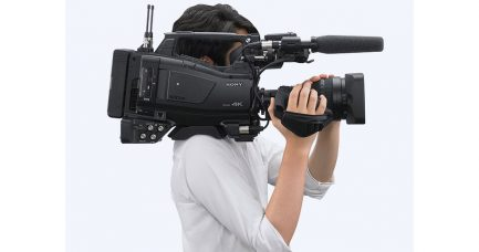 Sony PXW-Z750 XDCAM, the World's First 2/3-type Shoulder Camcorder to Support 4K Shooting with a 3-chip 2/3-type CMOS Sensor with Global Shutter, for Use in Uncontrolled Lighting Conditions & Capturing Quickly Moving Action: High Sensitivity, 4K/HD Simultaneous Recording, 120p HFR in HD, S-Log3/HLG, 12G-SDI and Advanced Wireless Workflow Capabilities