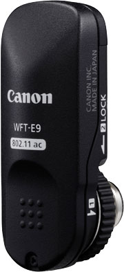 Canon WFT-E9, optional wireless file transmitter