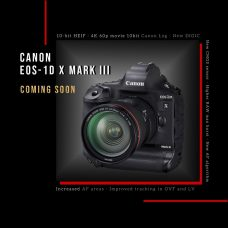 Canon Develops Flagship Full-Frame EOS-1D X Mark III DSLR for Sports & Wildlife: Faster Frame Rates with Full AF and AE, 4K 60p Movie 10-bit 4:2:2 Canon Log, 10-bit HEIF, Higher RAW Max Burst, Increased AF Areas, Improved Tracking in OVF and LV, New AF Algorithm, Illuminated Rear-side Buttons