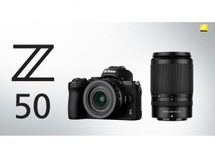 Nikon: Z 50, Nikon's First APS-C (DX-Format) Mirrorless Camera with Flip-down Selfie Touchscreen – Lightweight, Highest Standard Sensitivity, Eye-Detection AF, Fast 11 fps (with AF/AE) Continuous Shooting, 4K Video; Ultra-compact NIKKOR Z DX 16-50mm f/3.5-6.3 VR and Slim Telephoto Zoom NIKKOR Z DX 50-250mm f/4.5-6.3 VR: In-lens Optical Vibration Reduction