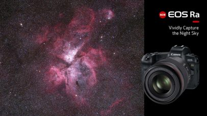 Canon EOS Ra Full-Frame Mirrorless Camera Features Modified IR Filter For Astrophotography: Lightweight & Compact, RF Mount Design, 30.3MP CMOS Sensor, OLED Electronic Viewfinder, High Sensitivity, Low-noise Performance, 4K Time-lapse Shooting, 30x Maximum Magnification, Dust- & Water-resistant Sealing
