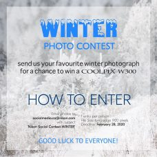 Nikon Social Contest | Winter 2020 for Legal Residents of Canada: Submit Your Favourite WINTER Photo, Which Must Have Been Captured With a Nikon Camera, Before February 28, 2020 at 11:59:59 p.m. ET