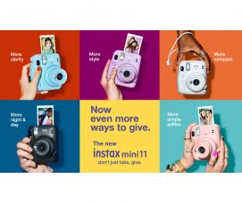 Fujifilm INSTAX Mini 11 Instant Camera: Portability & Trendy, New Automatic Exposure to Get Bright Photos Anywhere, and Selfie Mode for Quick & Easy Selfies and Close-up Pictures