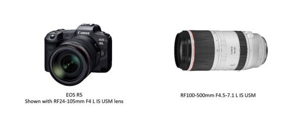 Canon EOS R5 to Feature 8K/30P Video, 12FPS (MS)/20 FPS (ES), Coordinated Image Stabilization, Animal AF, Dual Media Card Slots; 9 New RF Lenses In Development, Including the RF 100-500mm F4.5-7.1 L IS USM