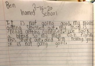 Boy Writes to Friend About Mom's Homeschooling Attempt: It's Not Going Good