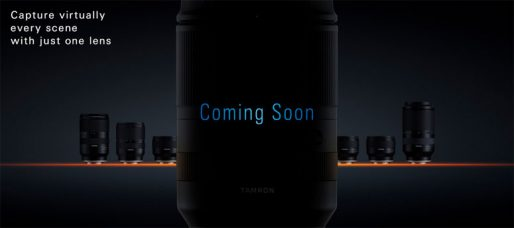 Tamron Teases Compact All-in-One Zoom For Sony Full-Frame E-Mount Mirrorless Cameras