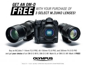 US Birding and Wildlife Photographers – Special Olympus Ultimate Nature Kit June Promotion: Buy 3 Select Lenses, Get an OM-D Free