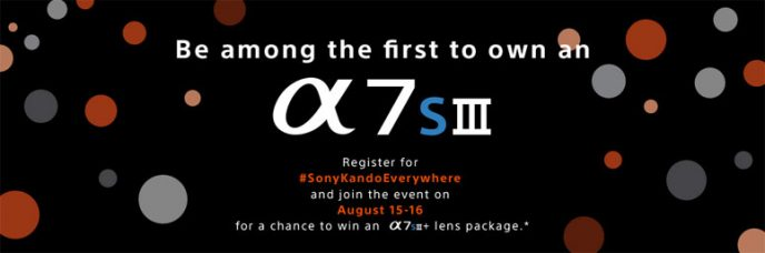 Win a Sony A7S III Mirrorless Camera + Lens Package