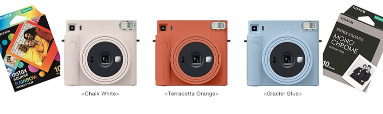 Fujifilm instax SQUARE SQ1 Instant Film Camera Features Selfie Mode and Will Be Lauched November 6 With Two New Square Film Formats: RAINBOW and MONOCHROME