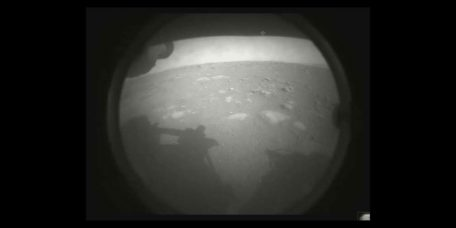 Perseverance Sends its First Image from the Red Planet