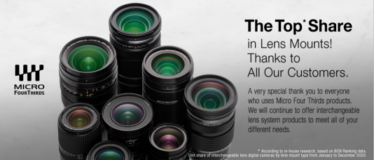 Micro Four Thirds Lenses Sold The Most in 2020 in Japan